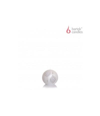 B.Świeca Marocco kula 80 biała