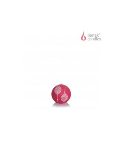 B.Świeca Marocco kula 80 czerwona