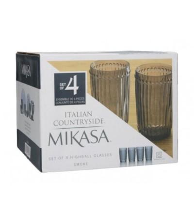 Mikasa Italian Kpl 4 szklanek czerń