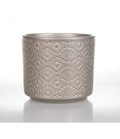 Cer Osłonka ceramiczna cylinder różowe złoto 12