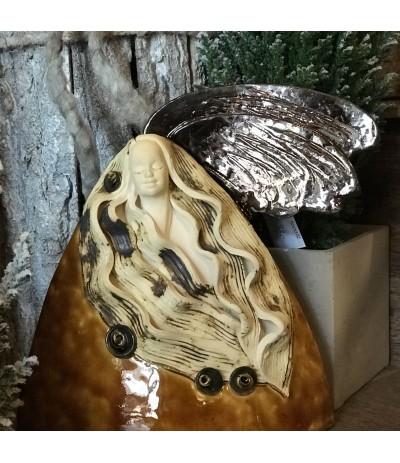 Bog.Anioł ceramiczny Skała brąz