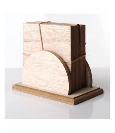 M.Kpl 6 podstawek drewnianych Coffee