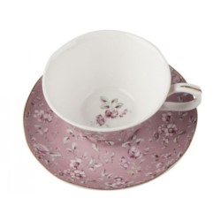 K.Alice Floral Filiżanka+ spodek różowa