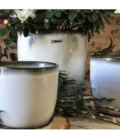 Dol Donica ceramiczna z podst biała