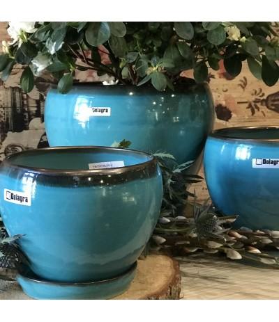 Dol Donica ceramiczna z podst turkus