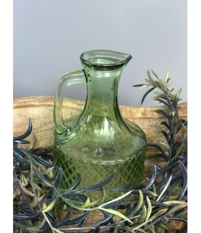 J.Butelka szklana zielona