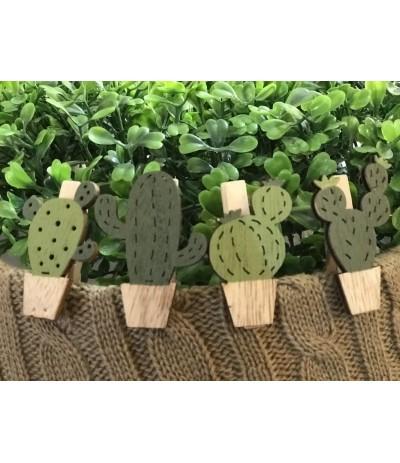 Pau.Kaktus na klamerce 8szt