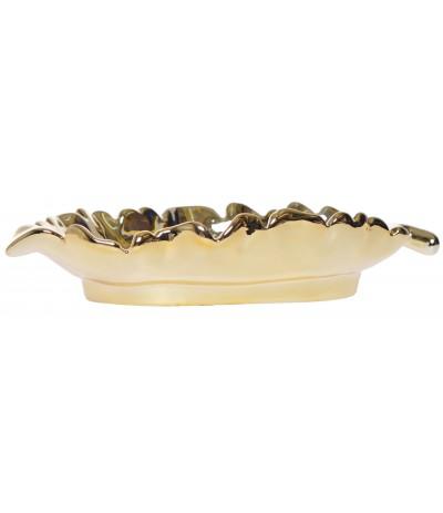 E.Liść ceramiczny złoty 22cm