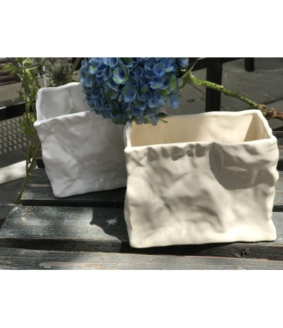 Osłonka ceramiczna Bag h-13, d-25 krem