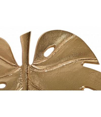 E.Talerz liść Monstery złoty