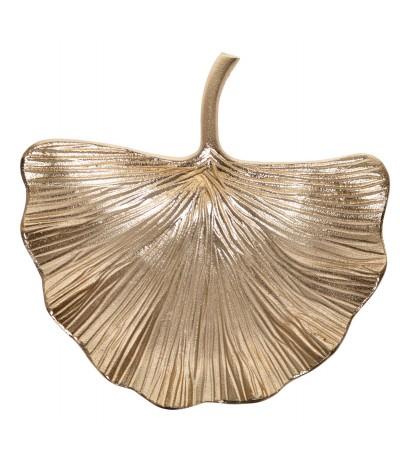 E.Talerz liść Miłorząb złoty