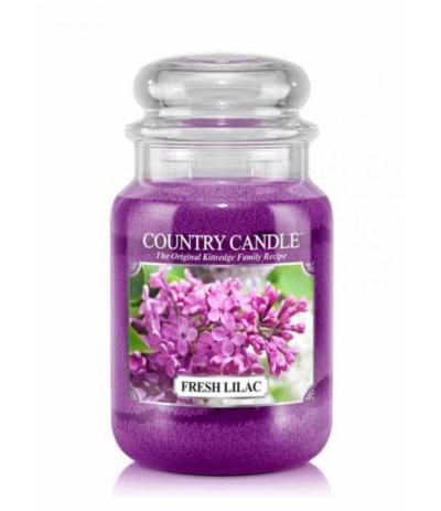Country Świeca w szkle 652g Fresh Lilac