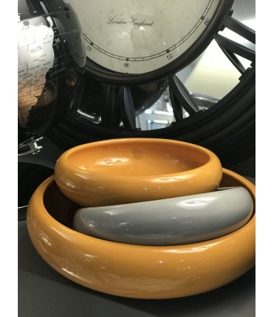 Osłonka ceramiczna Misa d-22 musztardowa