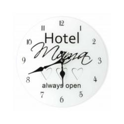 Zegar szklany okrągły Hotel mama