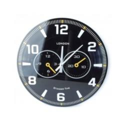 Zegar szklany czarny