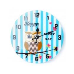Zegar szklany Sowa