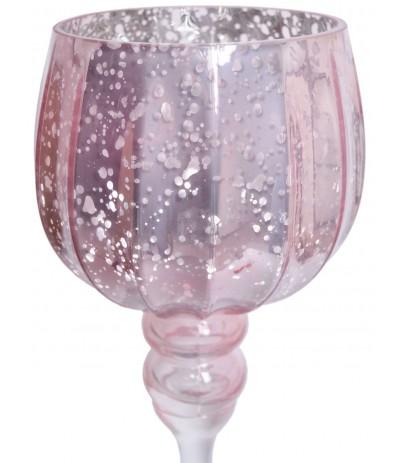 E.Kielich szklany vintage róż