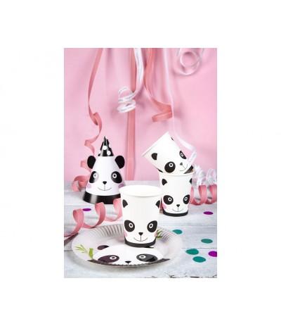 G.Czapeczki  papierowe Panda 6szt