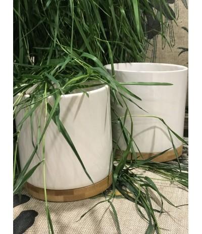 P.Bamboo cylinder osłonka white