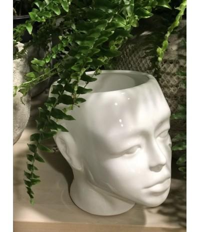 R. Osłonka Głowa ceramiczna biała