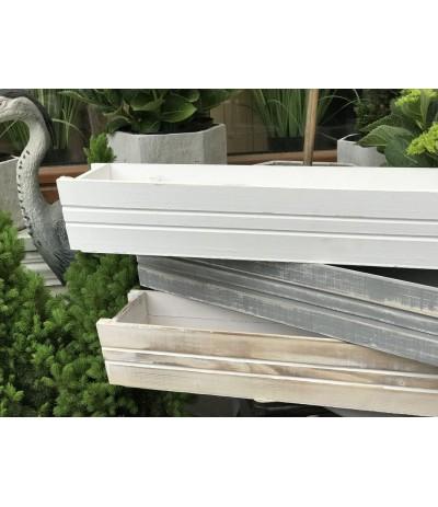 T.Osłonka drewniana- skrzynka 60cm biała