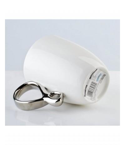 M.Infinity Silver Kubek 370ml white