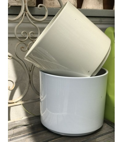 Cer.Cylinder Osłonka ceramiczna 22cm krem