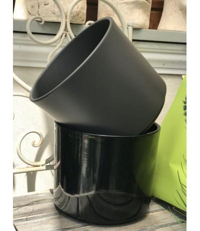 Cer.Cylinder Osłonka ceramiczna 28cm czarny połysk