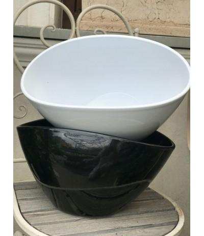 Cer.Osłonka ceramiczna owalna czarna