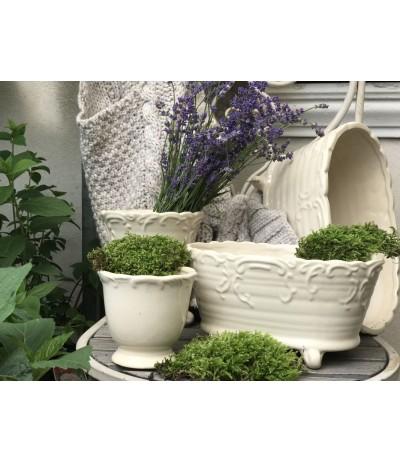 D.F.Savoy Osłonka ceramiczna krem korytko