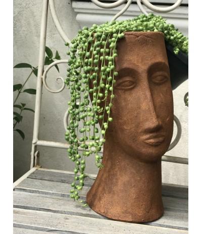 Osłonka ceramiczna Głowa  szamot Modigliani ruda