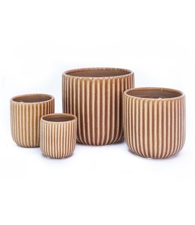 C.Terrassa Osłonka ceramiczna brąz 10