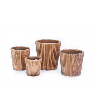 C.Terrassa Osłonka ceramiczna brąz 15