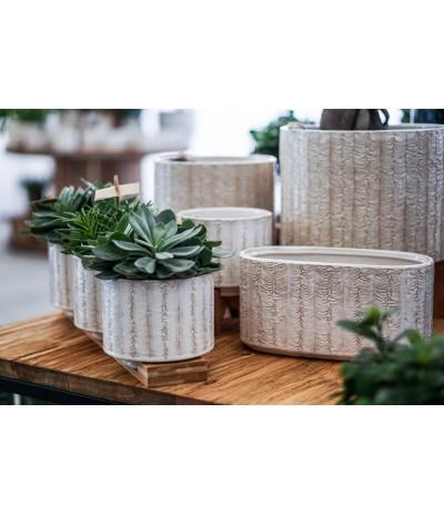 C.Bilbao Komplet Osłonek ceramicznych na drewnianej podstawie 14