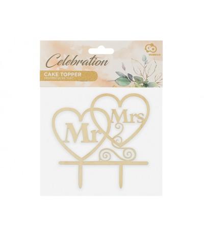 G.Dekoracja papierowa W&C Mr&Mrs drewniana