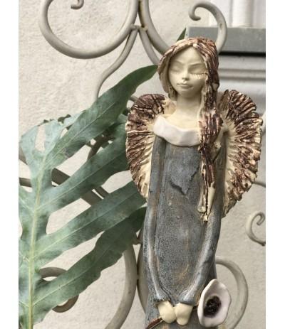 B.Anioł ceramiczy Ażur Stalowy
