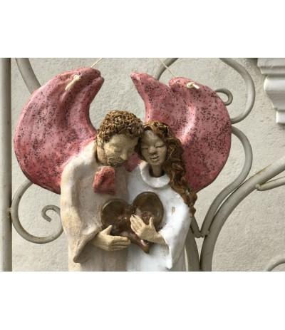B.Para Aniołów wiszących z sercem