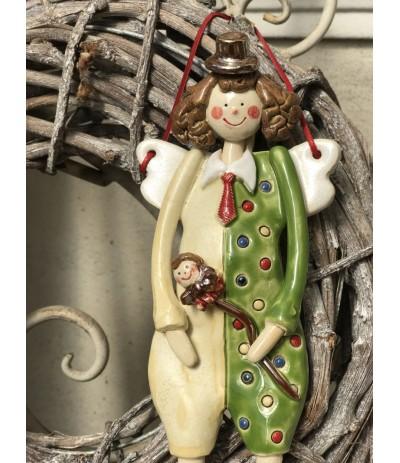 B.Anioł ceramiczny wiszący Klaun