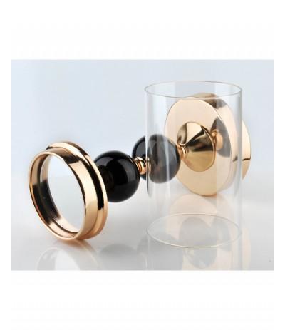 M.Chantal Złoty świecznik z szklanym kloszem