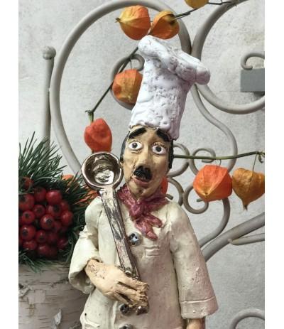 B.Postać ceramiczna Francuski Kucharz