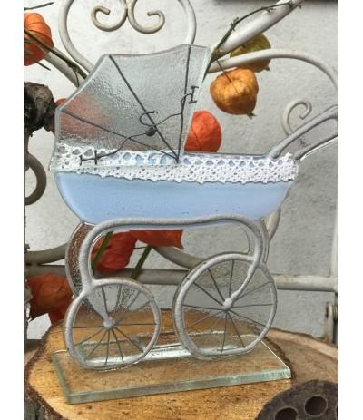 B.Wózek szklany Niebieski