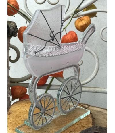 B.Wózek szklany Różowy