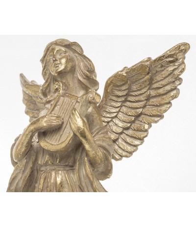 A.P.Figurka Anioła zlota z lirą