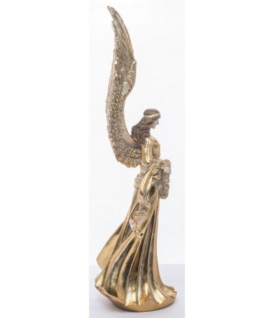 A.P.Figurka Anioła złoto z wieńcem