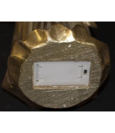 A.P.Figurka Anioła z wieńcem złoto Led