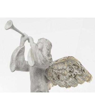 A.P.Figurka Anioła z trąbką Biel