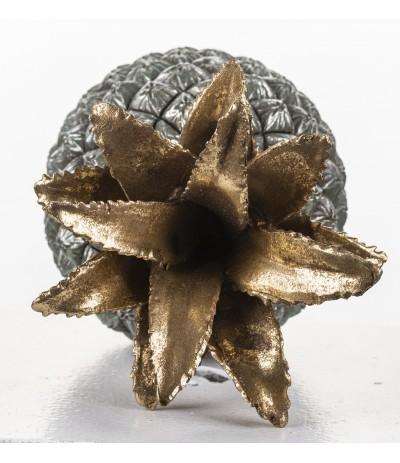 A.P.Figurka Ananasa szaro-zloty