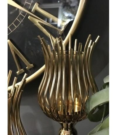 A.Świecznik metalowy złoty