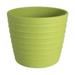 C.Donica ceramiczna bambus strukt 15 oliwka