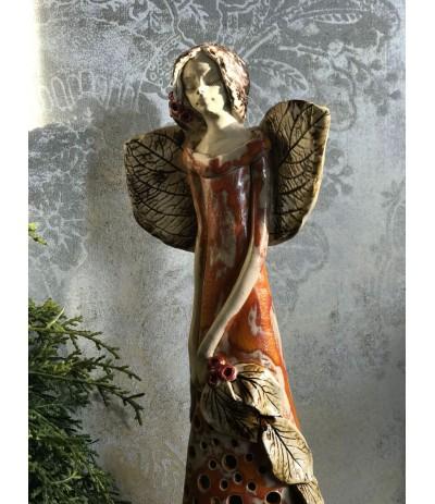 B.Anioł ceramiczny Ażurowy Pomarańcz